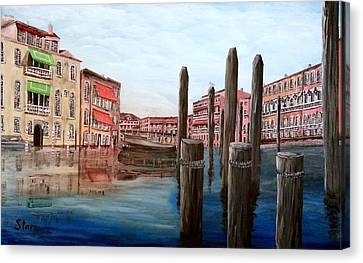 Venice Canal Canvas Print by Irving Starr