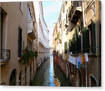 Venice Canal Canvas Print by Katie Wing Vigil