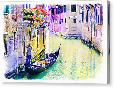 Venice Canal Canvas Print by Marian Voicu