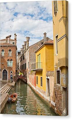 Canvas Print featuring the photograph Venice Canal by Sharon Jones