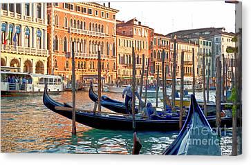 Venice Canalozzo Illuminated Canvas Print