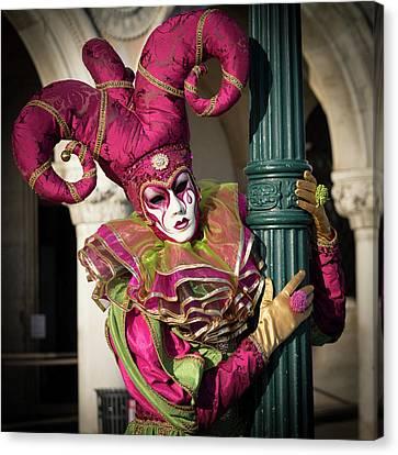Venice Carnival Joker Canvas Print by Asgeir Pedersen