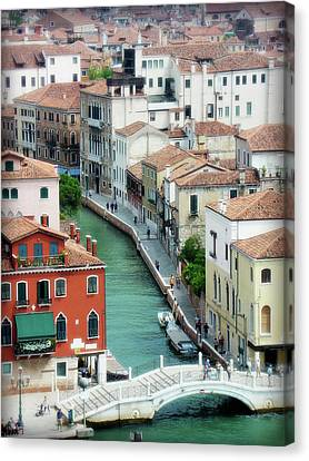 Venice City Of Canals Canvas Print by Julie Palencia