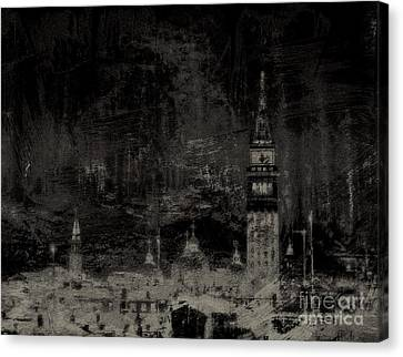 Venice Distressed No. 1 - Vintage Black Canvas Print