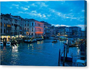 Canvas Print featuring the photograph Venice Evening by Eric Tressler