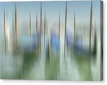 Venice Gondolas Impression 1 Canvas Print by Marty Garland