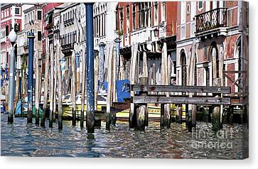 Canvas Print featuring the photograph Venice Grand Canal by Allen Beatty