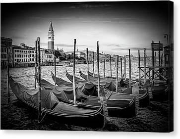 Venice Grand Canal And St Mark's Campanile - Monochrome Canvas Print