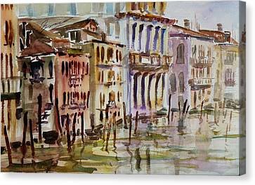 Canvas Print featuring the painting Venice Impression II by Xueling Zou