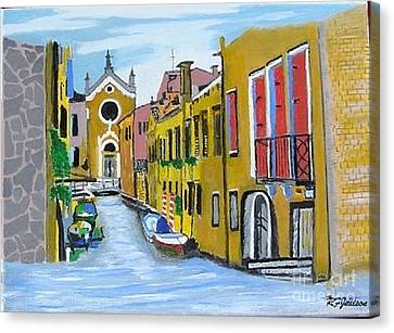 Canvas Print featuring the painting Venice In September by Rod Jellison