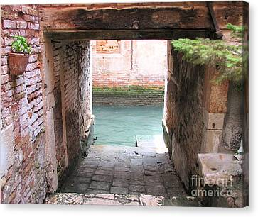 Venice- Italy-garage Canvas Print by Italian Art