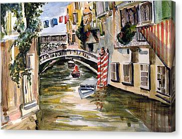 Venice Italy Canvas Print by Mindy Newman