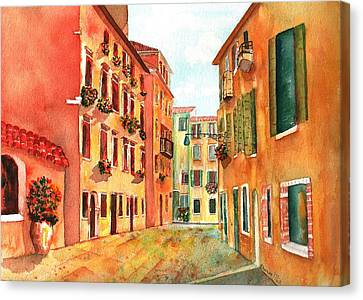 Venice Italy Street Canvas Print by Sharon Mick