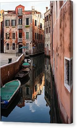 Venice Italy - Wandering Around The Small Canals Canvas Print by Georgia Mizuleva