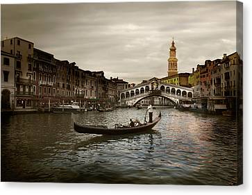 Canvas Print featuring the photograph Venice by John Hix