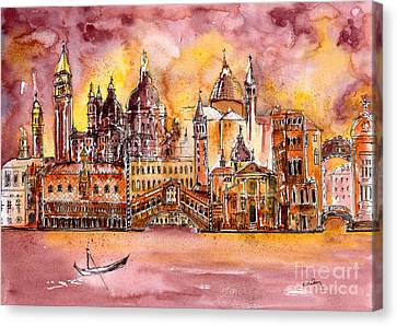 Venice Medley Canvas Print by Callan Percy