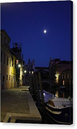 Canvas Print featuring the photograph Venice Moon by Pat Purdy