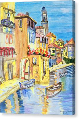 Venice On A Summer Afternoon Canvas Print by Connie Valasco