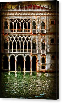Canvas Print featuring the photograph Venice Palace  by Harry Spitz
