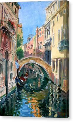 Venice Ponte Widmann Canvas Print by Ylli Haruni