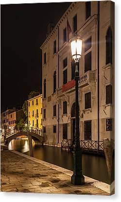 Venice Rio Di San Vio And Palazzo Cini Canvas Print