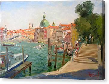 Venice Santa Chiara Canvas Print by Ylli Haruni