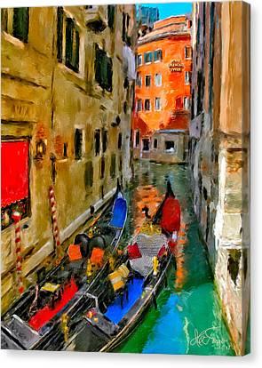 Canvas Print featuring the photograph Venice. Splendid Svisse by Juan Carlos Ferro Duque