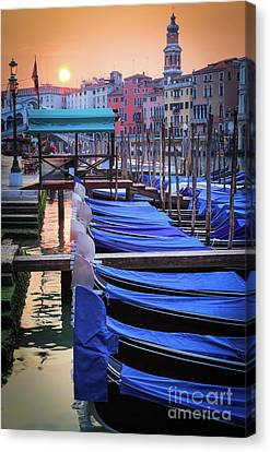 Grand Canal Canvas Print - Venice Sunrise by Inge Johnsson