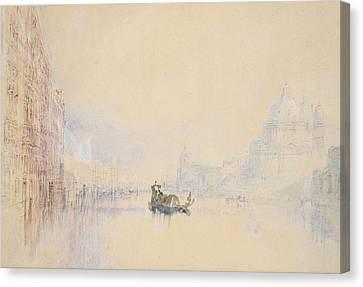 Venice  The Grand Canal Canvas Print by Joseph Mallord William Turner