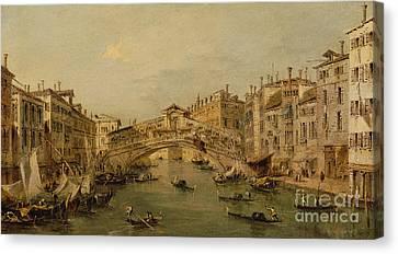 Venice  The Rialto Canvas Print by Francesco Guardi