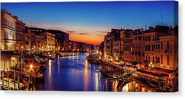 Canvas Print featuring the photograph Venice View At Twilight by Andrew Soundarajan