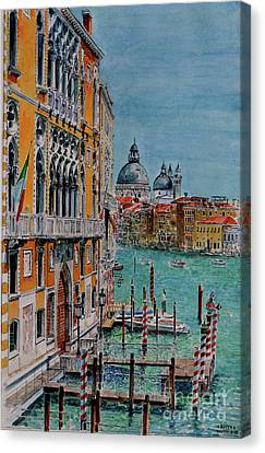 Venice, View From Academia Bridge Canvas Print by Anthony Butera