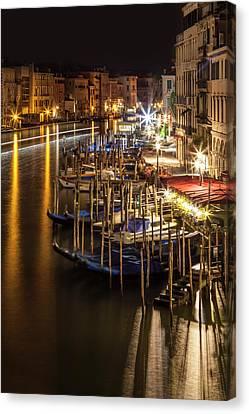 Venice View From Rialto Bridge Canvas Print by Melanie Viola