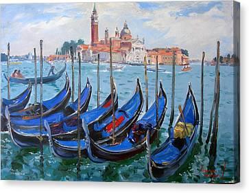 Venice View Of San Giorgio Maggiore Canvas Print by Ylli Haruni