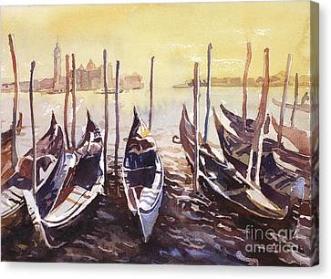 Canvas Print featuring the painting Venice Watercolor- Italy by Ryan Fox