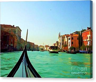 Canvas Print featuring the photograph Venice Waterway by Roberta Byram