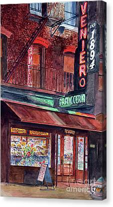 East Village Canvas Print - Venieros Pasticeria by Anthony Butera