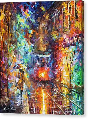 vening Trolley  Canvas Print by Leonid Afremov