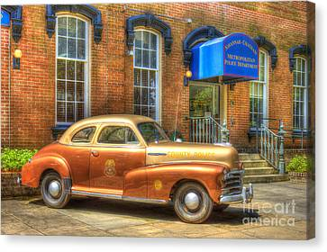 1948 Chevrolet Stylemaster Coupe Chatham County Police Car Canvas Print by Reid Callaway