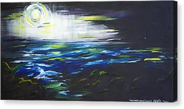 Ventura Seascape At Night Canvas Print by Sheridan Furrer