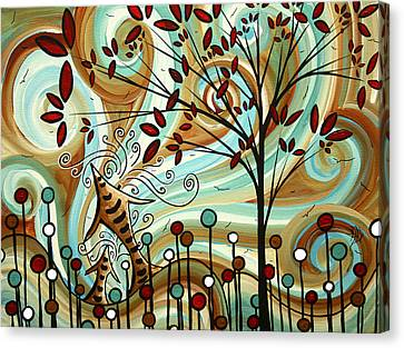 Venturing Out By Madart Canvas Print by Megan Duncanson