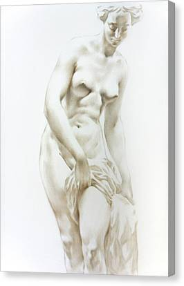 Canvas Print featuring the painting Venus 1a by Valeriy Mavlo