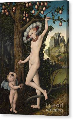 Bough Canvas Print - Venus And Cupid by Lucas the elder Cranach