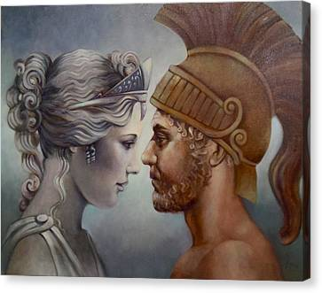 Venus And Mars Canvas Print by Geraldine Arata