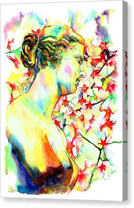 Ancient Canvas Print - Venus De Milo by Christy  Freeman