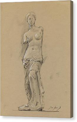 Venus De Milo Canvas Print by Juan Bosco
