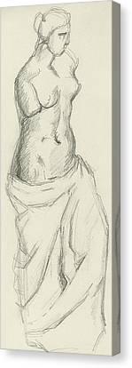 Venus De Milo Canvas Print by Paul Cezanne