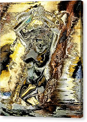 Venus Emerging From The Waves Canvas Print by Peter Lloyd