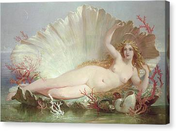 Venus Canvas Print by Henry Courtney Selous