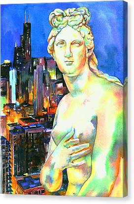 Venus In The City Canvas Print
